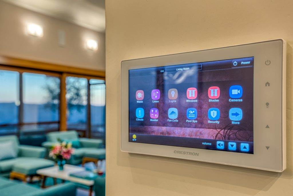 Crestron energy system panel